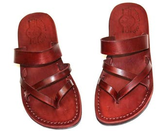 flip flop Leather sandals for men , Made from Genuine leather sandals .
