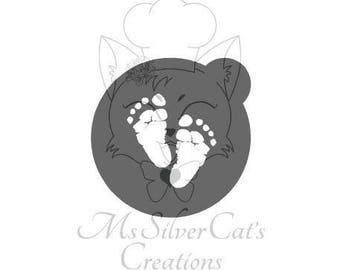 Baby footprints Oreo Stencil