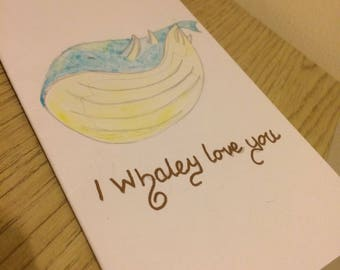 Mothers day card - i whaley love you/ Pokemon Pun card/ Pokemon card/ Fandom card/ Funny card/ Love Card/ whale card/ cute card/