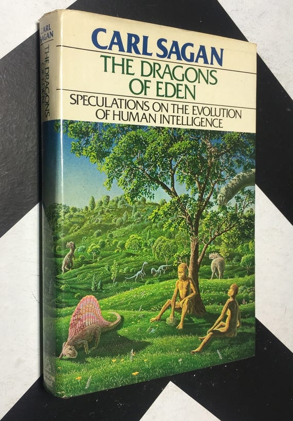 The Dragons of Eden: Speculations on the Evolution of Human Intelligence by Carl Sagan (Hardcover, 1977) vintage book