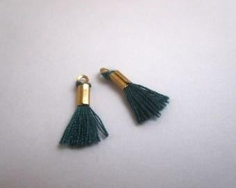 Set of 2 mini green Pompom