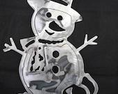 Snowman - Metal Snowman - Snowman Decor - Snowman Christmas Decor - Xmas Snowman - Rustic Snowman - Holiday Snowman - Holiday Rustic Snowman