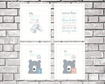 Baby wall prints