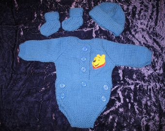 Hand knitted Bodysuit for Baby Reborn 22Inch