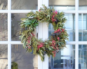 Adina Pepperberry Wreath | Fall Wreath | Front Door Wreath | Olive Wreath | Fall Wreaths for Front Door  | Autumn Wreaths | Wreaths for Fall