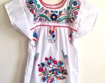 Girls Summer Dress Size 6 Hand Embroidered