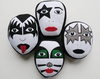 Kiss cushions/Luka The Pau cushions/hand embroidered cushions.