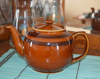 Vintage Sadler Brown Betty Teapot, 32 oz Capacity, 1940s, Brown Glazed Clay, England, Tea Lovers Gift for Him, Gift for Her, Birthday Gift