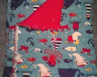 Ocean animals baby blanket