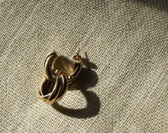 9-ct Gold Pierced Earrings