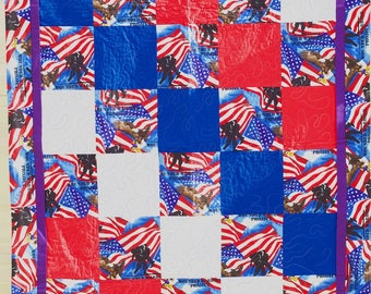 Wounded Warrior Project Handmade Quilt