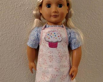 Baker's Apron and Hat for American Girl and 18 Inch Dolls