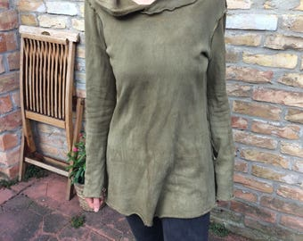 desert dancer hoodie dress in green size s/m