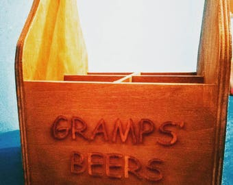 Personalised Beer Caddy/ Crate