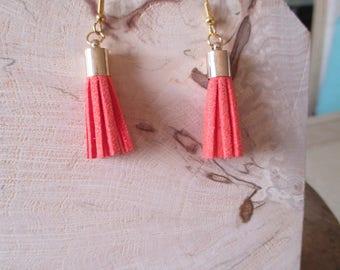 orange tassel earrings for girl