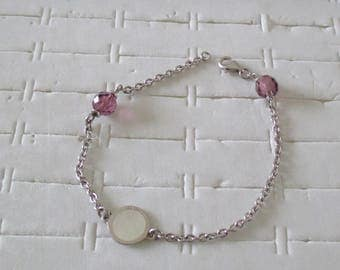 Silver and pearl bracelet and beads