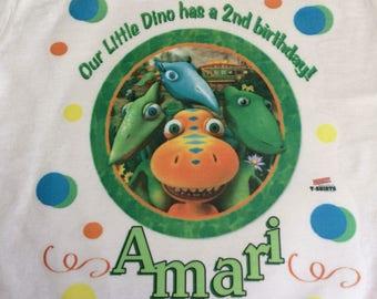 Dino Train birthday shirt