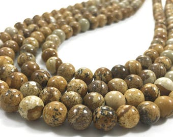 8mm Picture Jasper Beads,Round Gemstone Beads