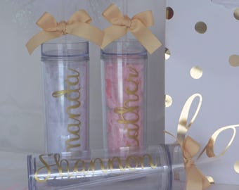 Custom tumbler, personalized tumbler, wedding gift, bachelorette party, bridesmaid tumbler, wedding favor, bridal gift