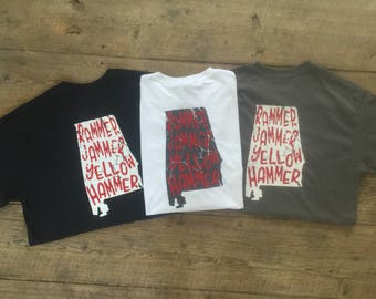 Alabama, Rammer Jammer, Yellow Hammer, Roll Tide, Football, Game Day, Shirt