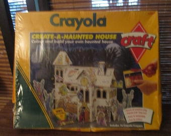 Vintage Crayola Crayon Create a Haunted House Craft Kit Set (1980s)