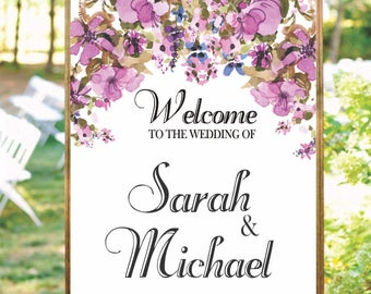 Floral Editable template, invitations and announcements.