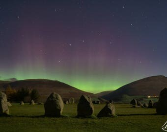 Castlerigg Stone Circle [Aurora Borealis & The Plough]
