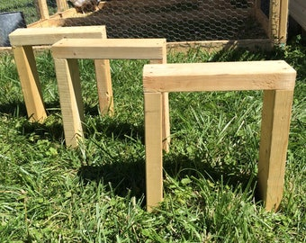 Minimalist Garden Stool // Fits In Rows // One Foot Bench // Save