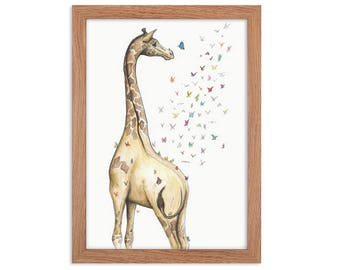 Young Giraffe Animal Print