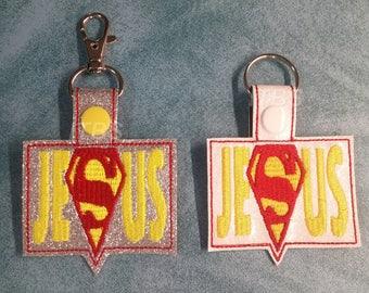 Super hero Jesus key fob
