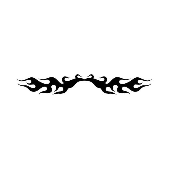 Tribal Flame Design Stencil 5 Formats Stencils Svg Dwg Dxf