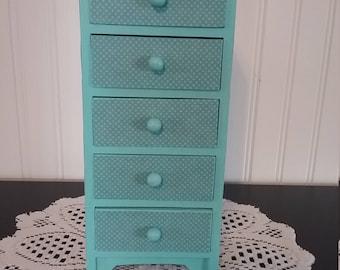 Turquoise  Paisley Jewelry Box