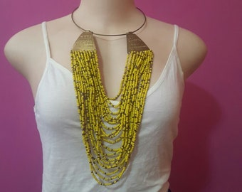 maasai necklace / beaded necklace / african necklace / colorful necklace