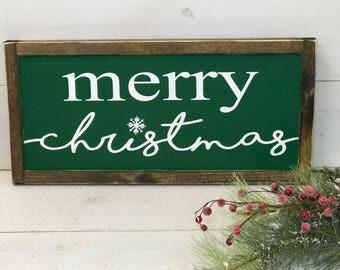 Merry Christmas Sign   Farmhouse Christmas Sign  