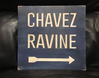 Chavez Ravine | Dodgers Stadium | Baseball Sign | Los Angeles Dodgers | Distressed Wood Handmade | Boys Decor | Man Cave | California