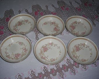 Royal Doulton Romance Collection Lisette English Fine Bone China set of 6 eating bowls