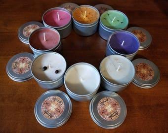 Organic Soy Candle 8oz Tins
