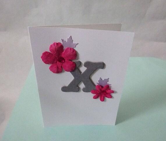 "Monogram/Initial Card - Letter ""X"""