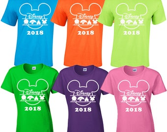 Walt Disney World family vacation 2018 matching t shirts tee magic kingdom hollywood studios epcot animal kingdom orlando toy story land
