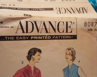Vintage advance size 16 # 8087 1950 to 1960