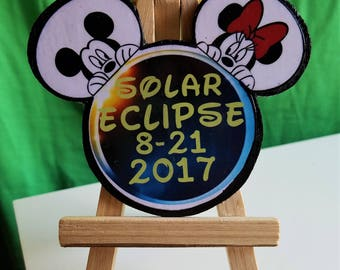 Solar Eclipse 2017 Mickey Ears Pin