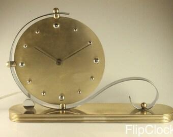 Beautiful 60s art-deco-like table/mantle clock