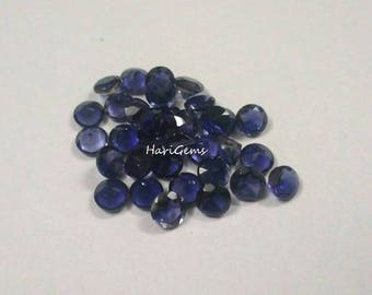 5 Pieces lot 6mm Iolite Faceted Round Loose Gemstone AAA Quality Natural Faceted Iolite Round Gemstone Loose Iolite calibrated gemstone