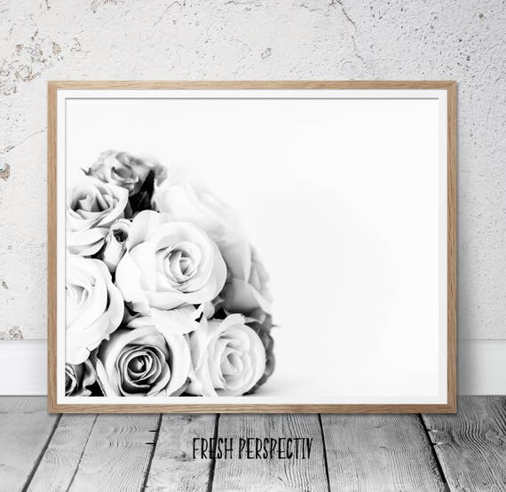 black and white photography, Roses print, roses bouquet photography, bouquet wall print, roses wall art, flower wall art, floral wall print