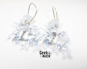 SALE 50% 3D Unicorn and star earrings