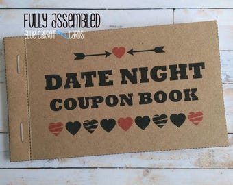Date Night Jar, Date Night, Date Night Ideas, Date Night Cards, 1st First Anniversary Gift, Date Night Box, Blue Carrot Cards