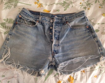 Vintage Levi's 501 Cut Off Shorts Size 34