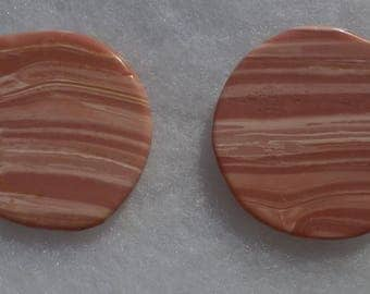 Pink Opal set of two golf ball markers