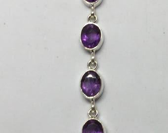 Amethyst sterling silver bracelate