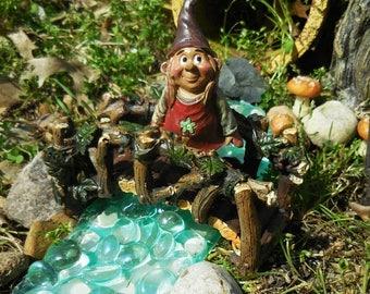 20% Off Storewide Fairy Garden Gnome, Miniature Gnome for your Fairy Garden, Terrarium, and Outdoor Miniature Garden Decorations